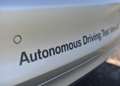 Autonomous driving test car