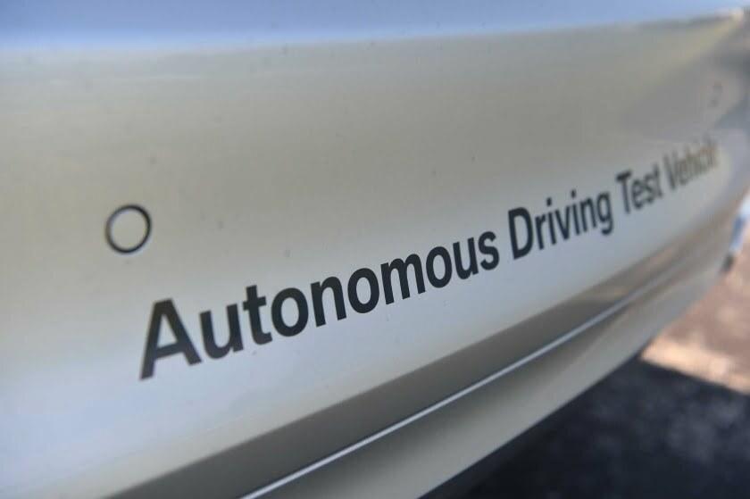 Autonomous driving test car
