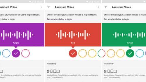 Google Asistent pridáva k jednotlivým hlasom farebné schémy